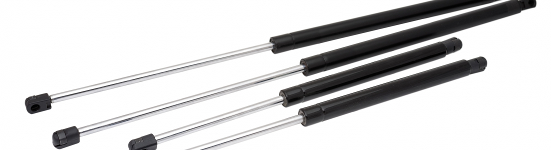 How does the pressurization process of gas springs work?